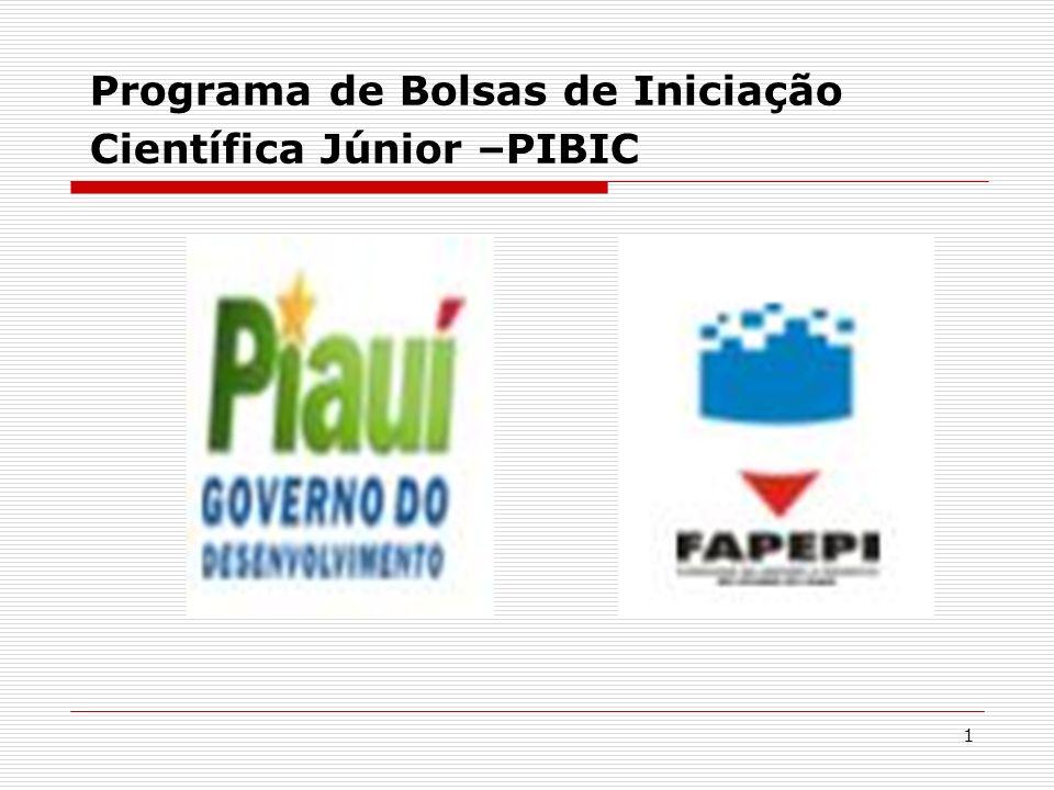 1 Programa de Bolsas de Iniciação Científica Júnior –PIBIC