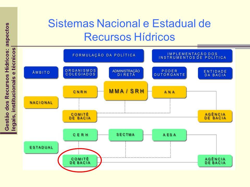 Gestão dos Recursos Hídricos: aspectoslegais, institucionais e técnicos Sistemas Nacional e Estadual de Recursos Hídricos