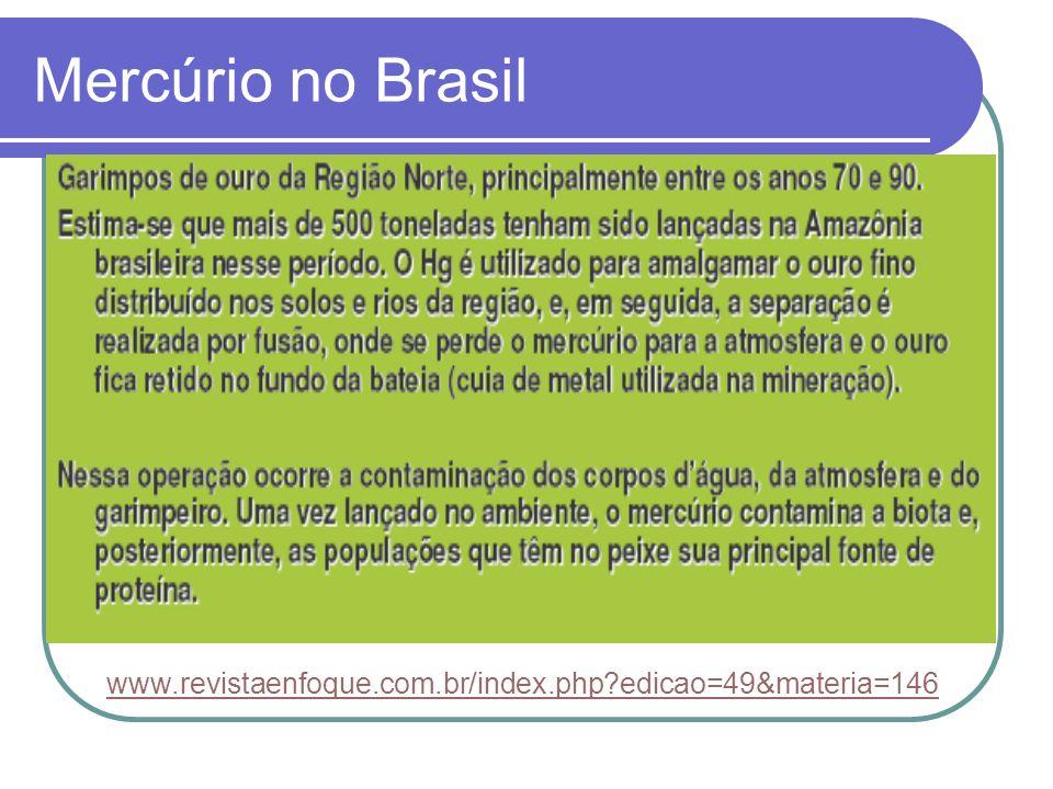 Mercúrio no Brasil www.revistaenfoque.com.br/index.php?edicao=49&materia=146