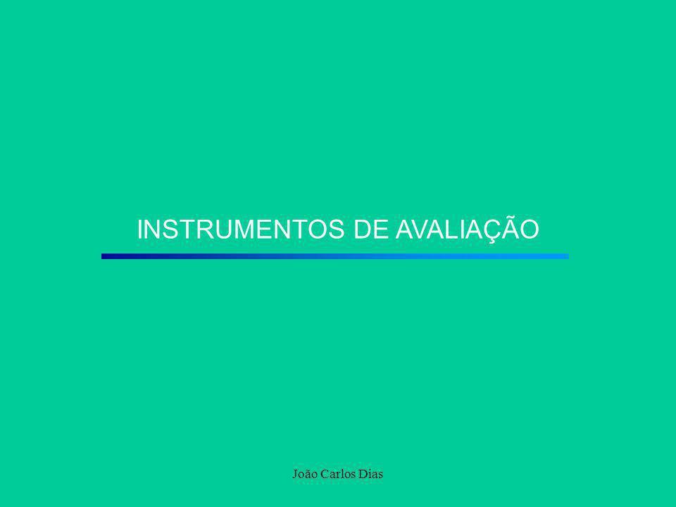 João Carlos Dias INSTRUMENTOS DE AVALIAÇÃO