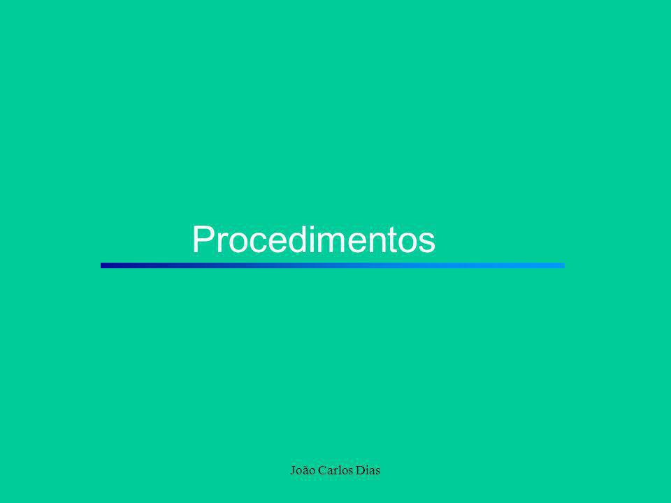 João Carlos Dias Procedimentos
