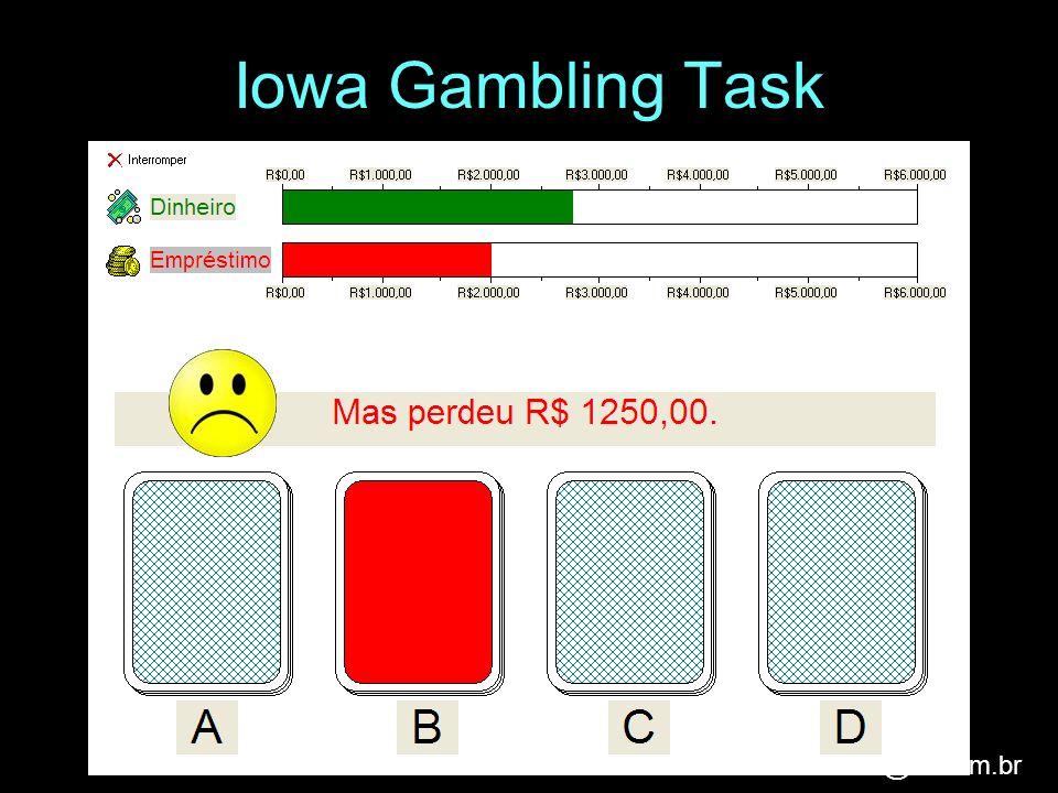 analice@iis.com.br Iowa Gambling Task
