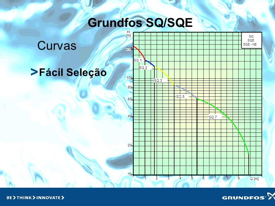 Grundfos SQ > > Manutenção Baixa manutenção: menores gastos com peças e paradas Material inoxidável: maior durabilidade