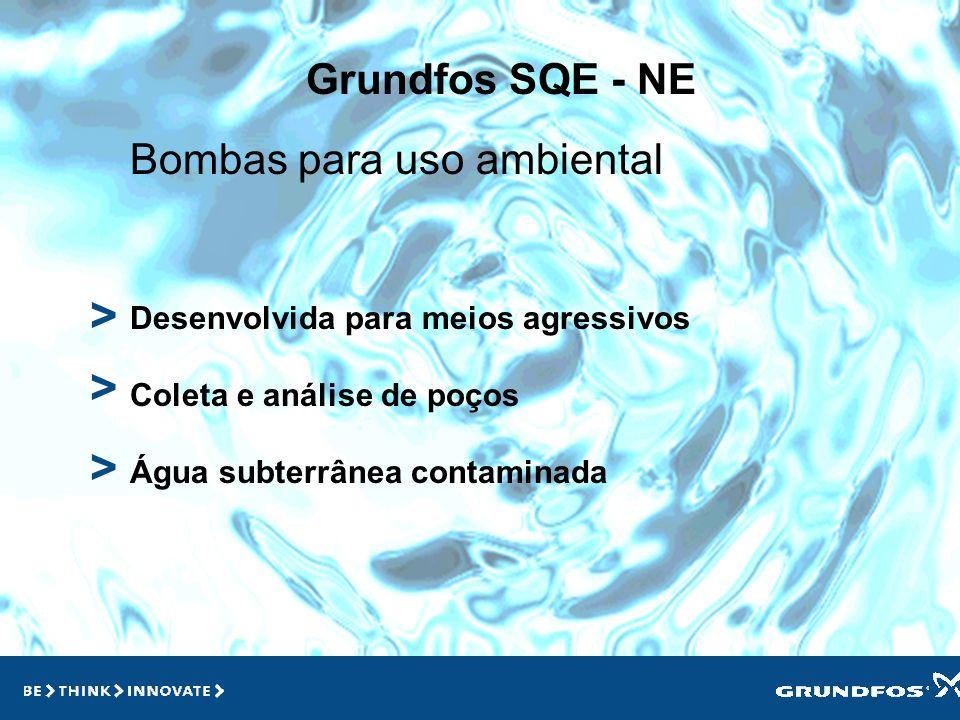Grundfos SQE > > Aplicações Casas Prédios Qualquer lugar em que tenha uma demanda variável Sistemas de Pressurização > >