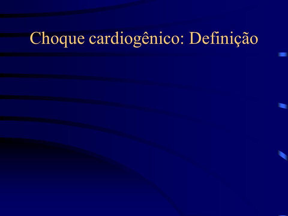 Choque cardiogênico: Definição