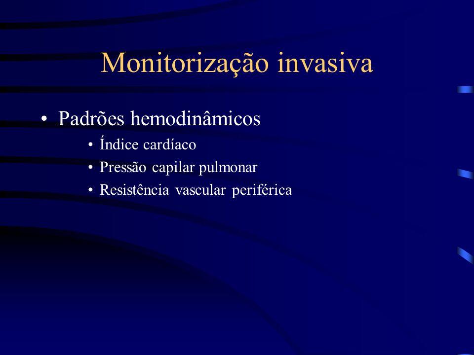 Monitorização invasiva Padrões hemodinâmicos Índice cardíaco Pressão capilar pulmonar Resistência vascular periférica