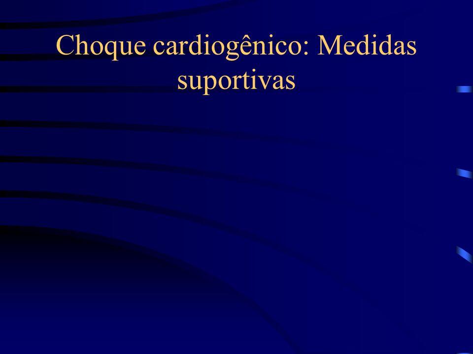 Choque cardiogênico: Medidas suportivas