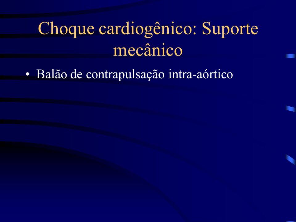 Choque cardiogênico: Suporte mecânico Balão de contrapulsação intra-aórtico