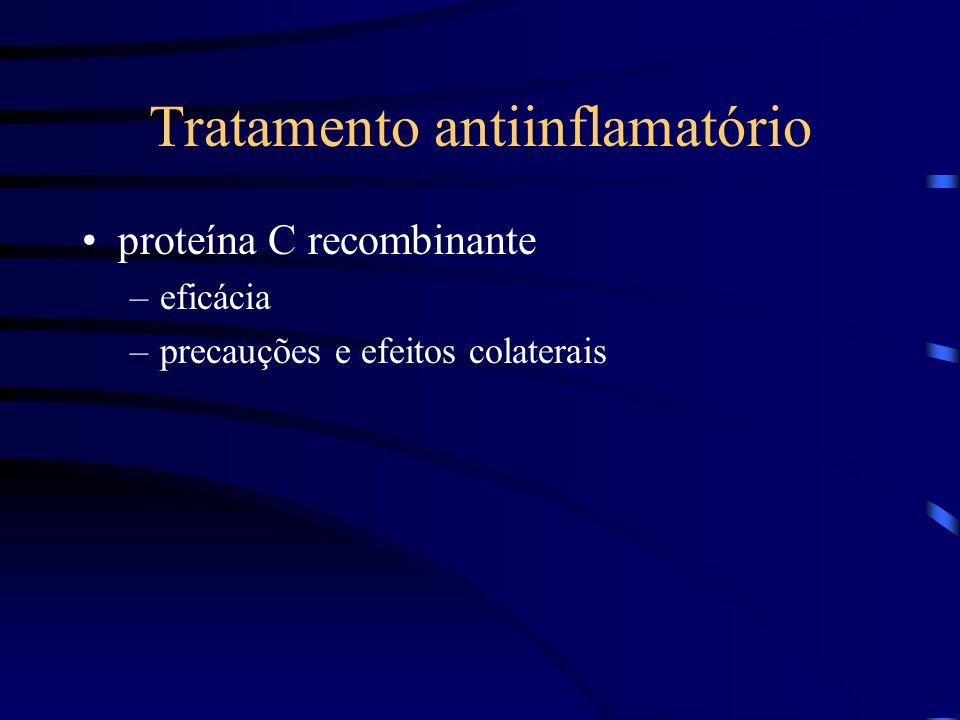 Tratamento antiinflamatório proteína C recombinante –eficácia –precauções e efeitos colaterais