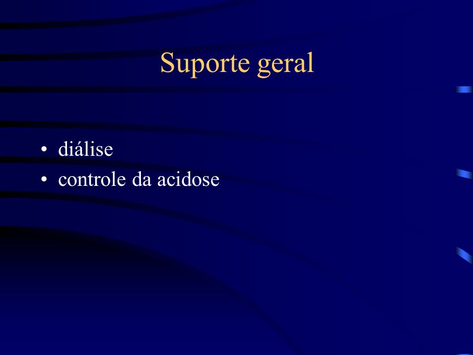 Suporte geral diálise controle da acidose
