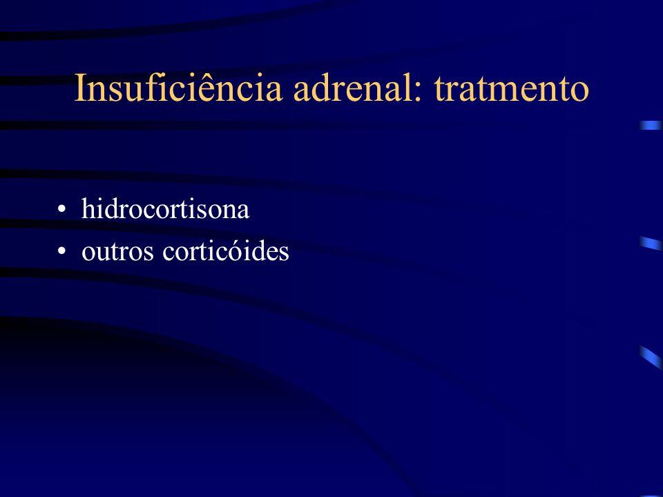 Insuficiência adrenal: tratmento hidrocortisona outros corticóides