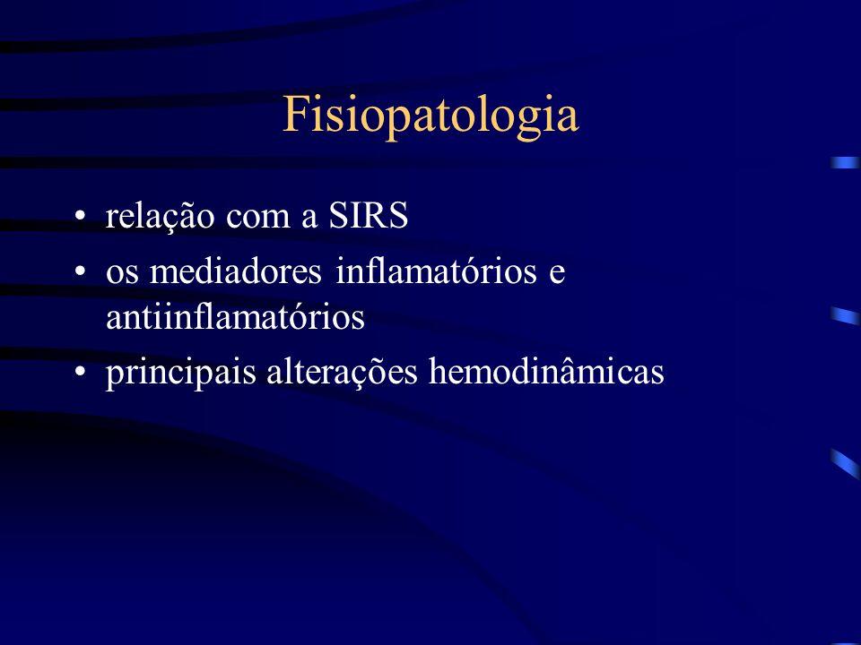 Fisiopatologia relação com a SIRS os mediadores inflamatórios e antiinflamatórios principais alterações hemodinâmicas