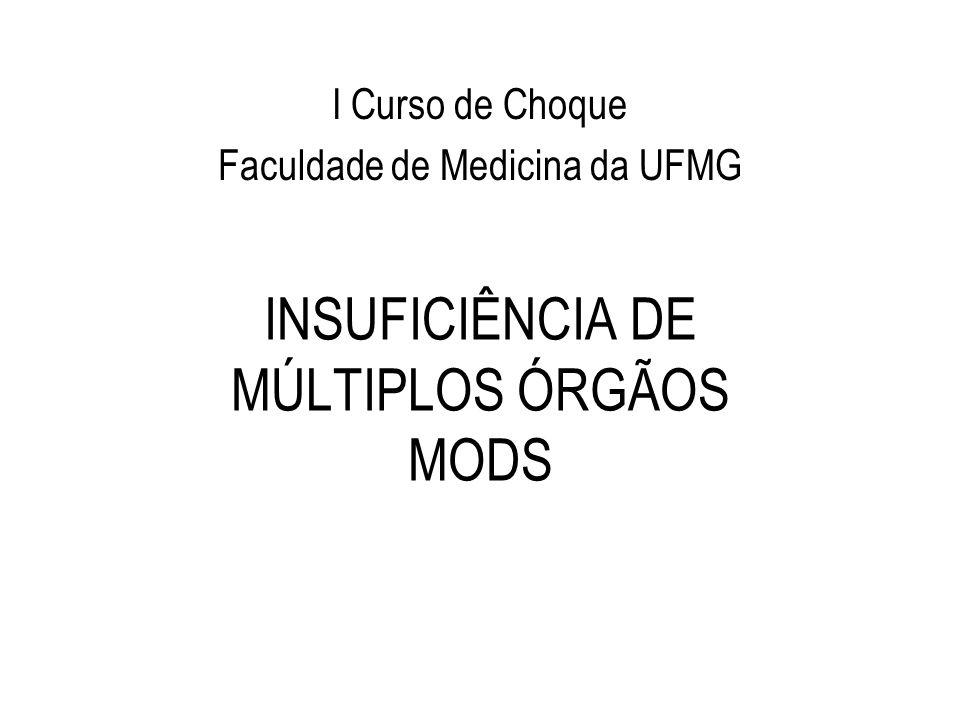 INSUFICIÊNCIA DE MÚLTIPLOS ÓRGÃOS MODS I Curso de Choque Faculdade de Medicina da UFMG