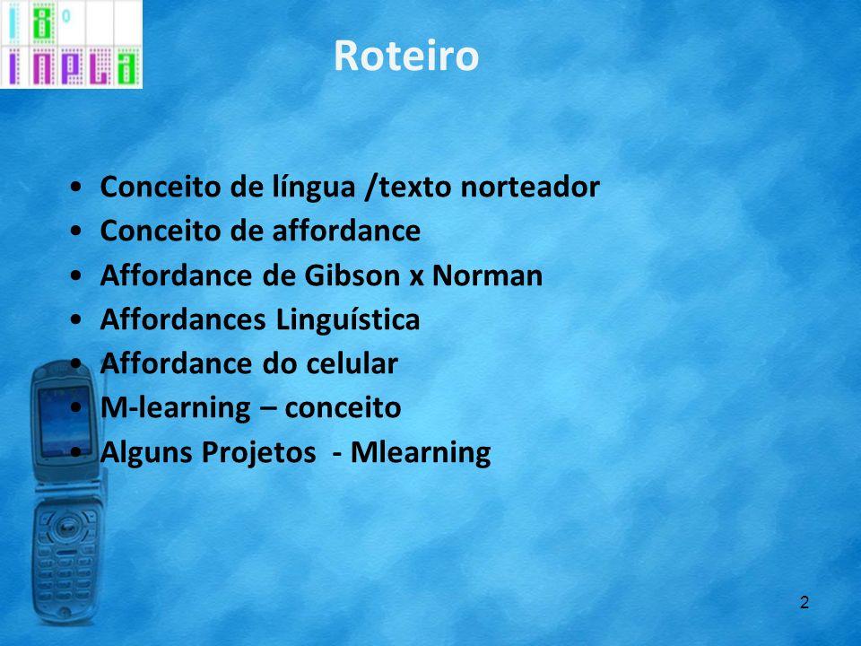 Objetivo Esta comunicação tem como objetivo apresentar resultados parciais de recentes projetos (SANTOS COSTA, 2009-2011) que investigam o uso do celular no ensino de inglês como língua estrangeira.
