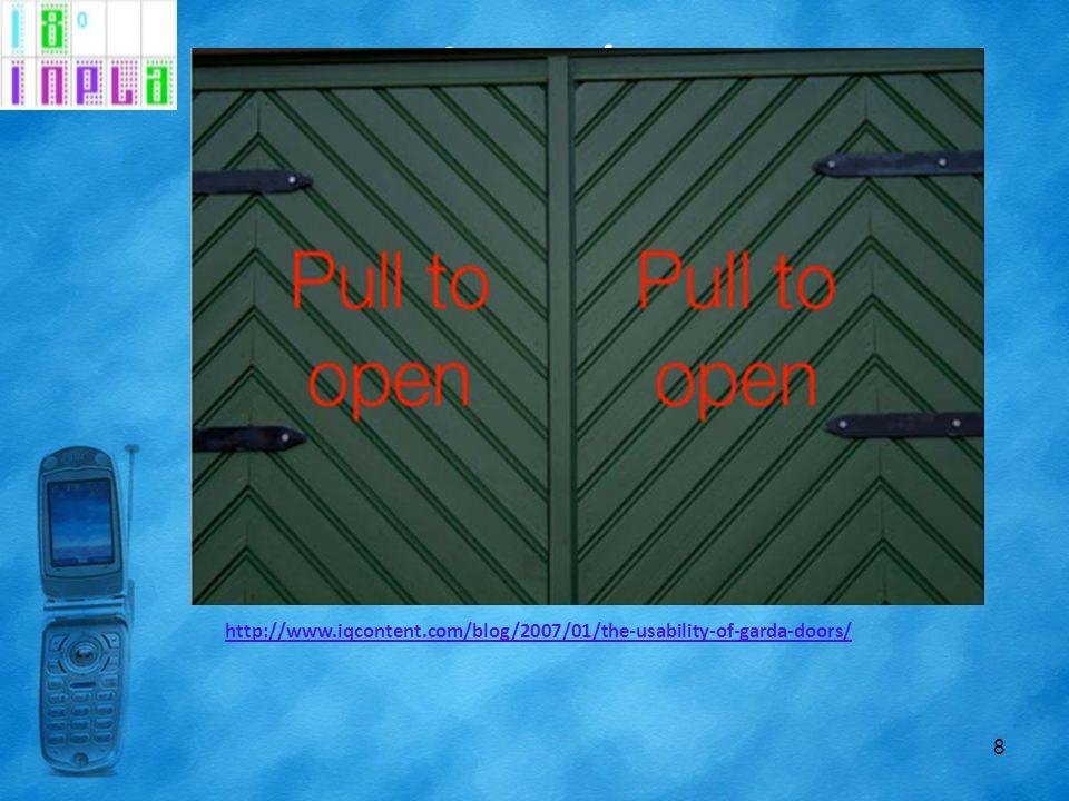 Língua / Texto 8 http://www.iqcontent.com/blog/2007/01/the-usability-of-garda-doors/