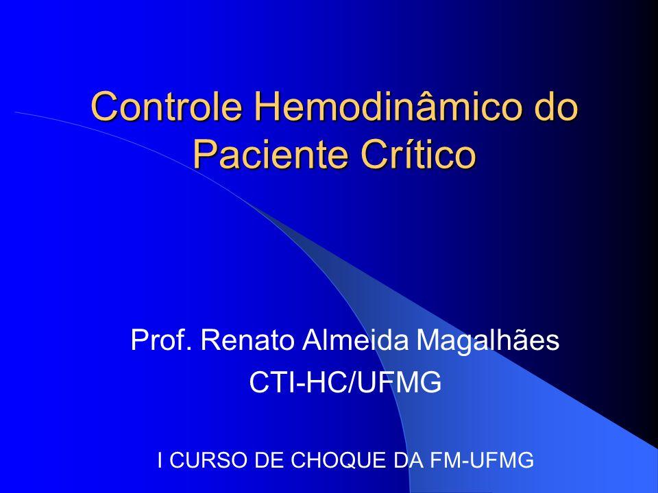 Controle Hemodinâmico do Paciente Crítico Prof. Renato Almeida Magalhães CTI-HC/UFMG I CURSO DE CHOQUE DA FM-UFMG