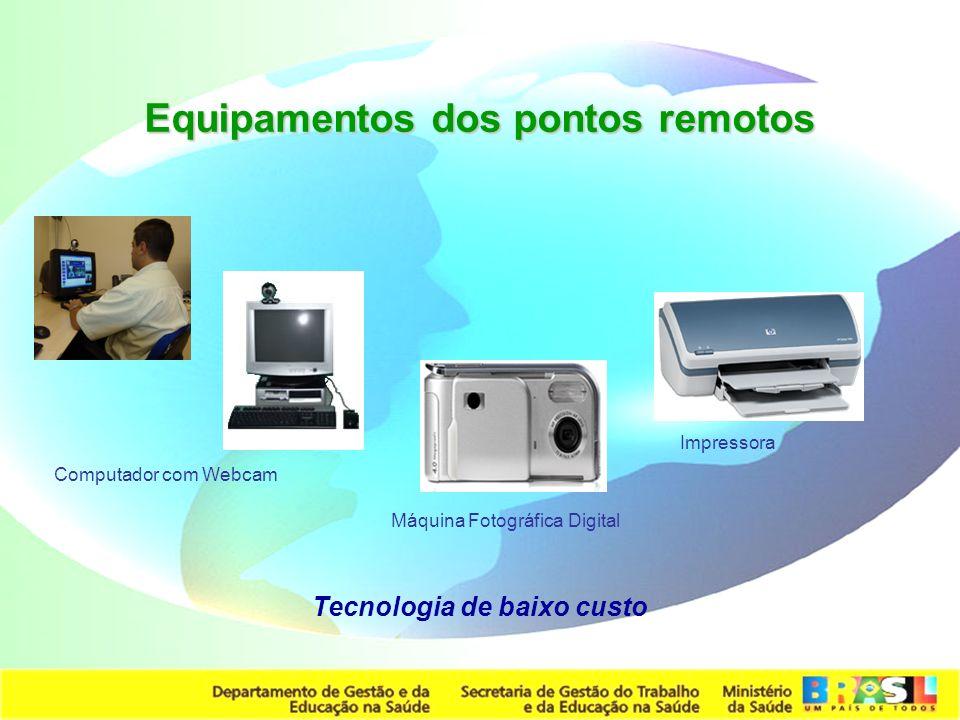 Secretaria de Gestão do Trabalho e da Educação na Saúde Computador com Webcam Impressora Equipamentos dos pontos remotos Máquina Fotográfica Digital T