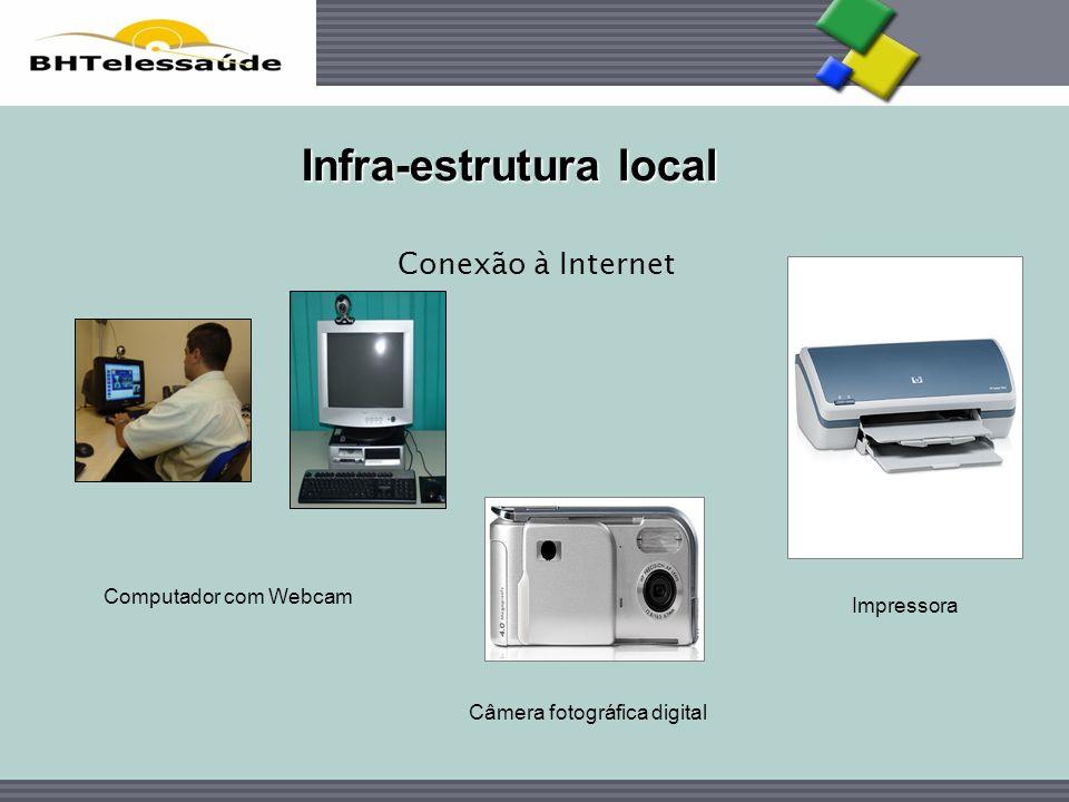 BHTelessaúde Computador com Webcam Infra-estrutura local Conexão à Internet Câmera fotográfica digital Impressora