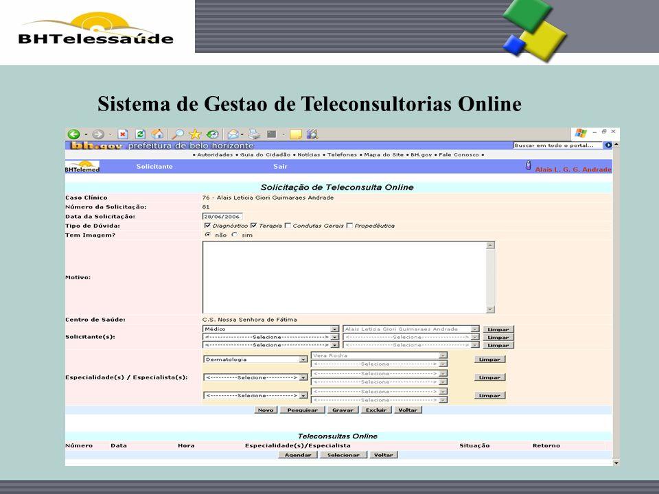 BHTelessaúde Sistema de Gestao de Teleconsultorias Online