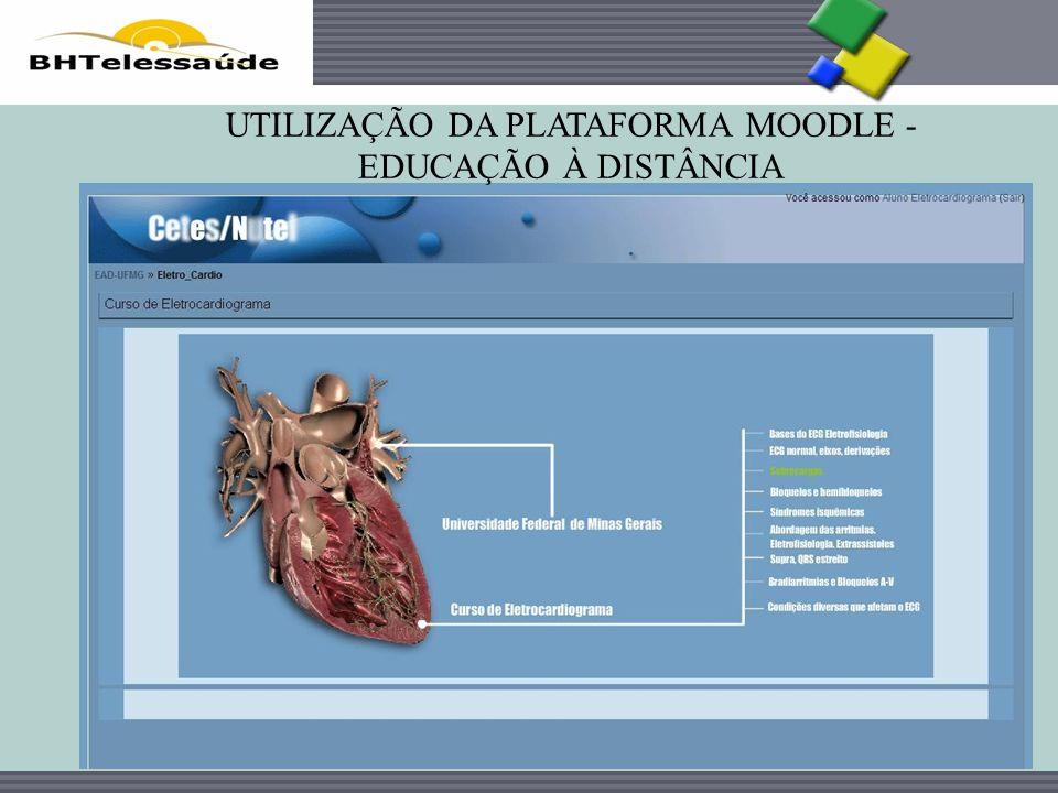 BHTelessaúde UTILIZAÇÃO DA PLATAFORMA MOODLE - EDUCAÇÃO À DISTÂNCIA