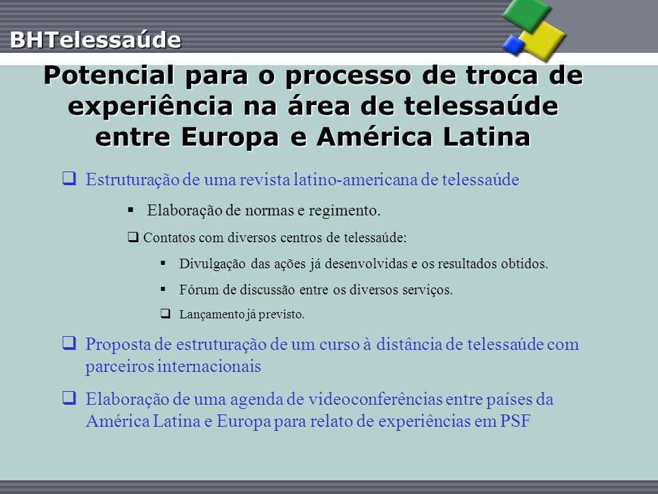 BHTelessaúde Potencial para o processo de troca de experiência na área de telessaúde entre Europa e América Latina Estruturação de uma revista latino-