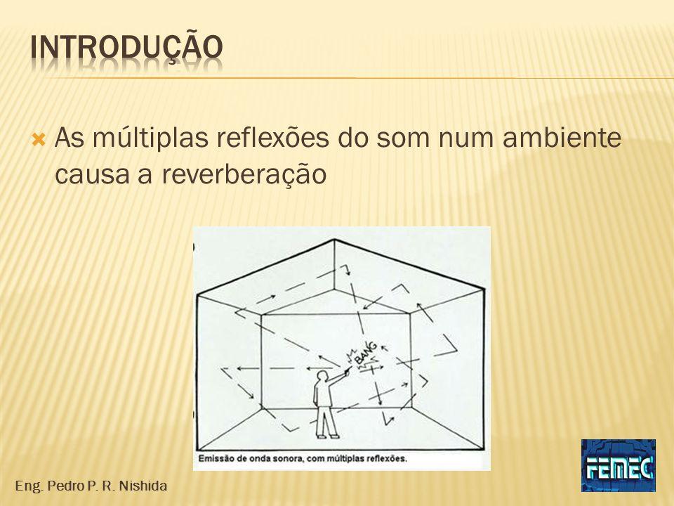 As múltiplas reflexões do som num ambiente causa a reverberação Eng. Pedro P. R. Nishida