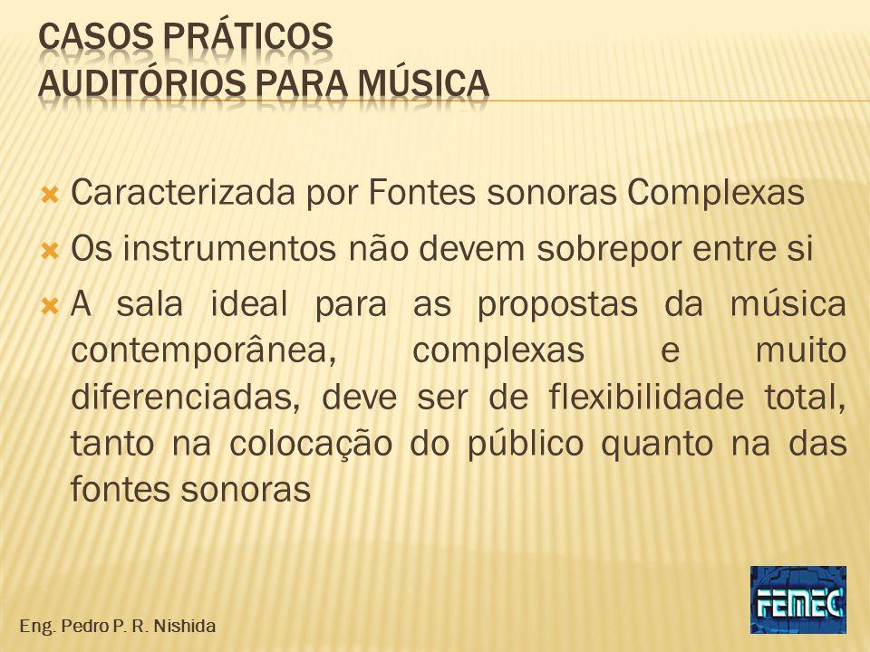 Caracterizada por Fontes sonoras Complexas Os instrumentos não devem sobrepor entre si A sala ideal para as propostas da música contemporânea, complex
