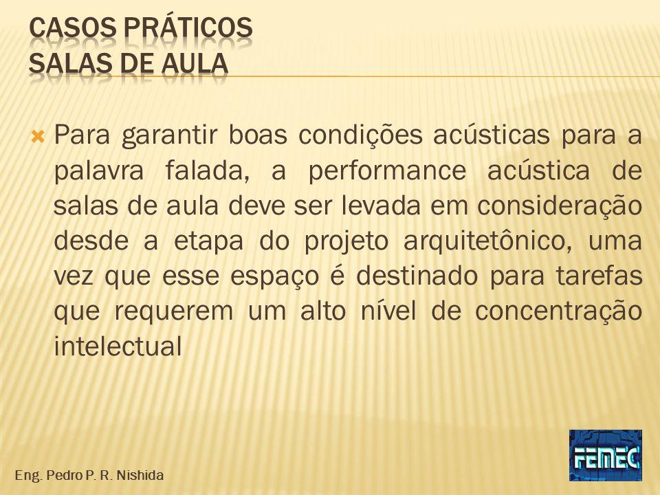 Para garantir boas condições acústicas para a palavra falada, a performance acústica de salas de aula deve ser levada em consideração desde a etapa do