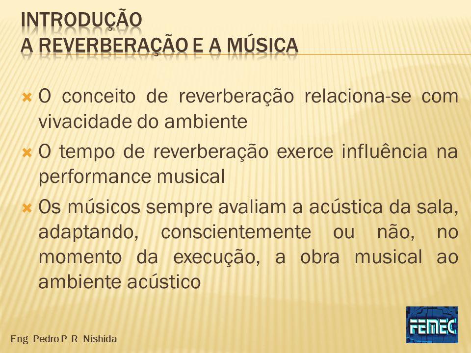 O conceito de reverberação relaciona-se com vivacidade do ambiente O tempo de reverberação exerce influência na performance musical Os músicos sempre