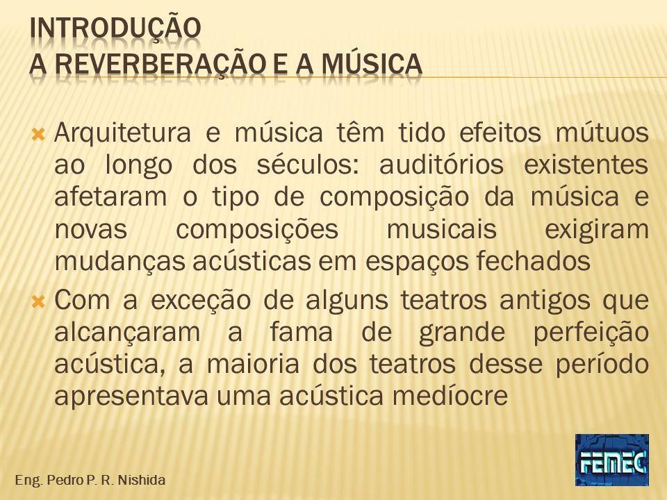 Arquitetura e música têm tido efeitos mútuos ao longo dos séculos: auditórios existentes afetaram o tipo de composição da música e novas composições m