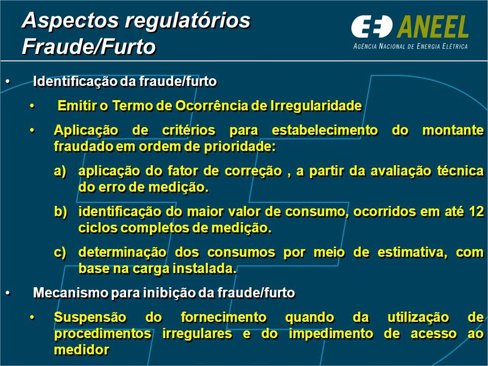 Identificação da fraude/furto Emitir o Termo de Ocorrência de Irregularidade Aplicação de critérios para estabelecimento do montante fraudado em ordem