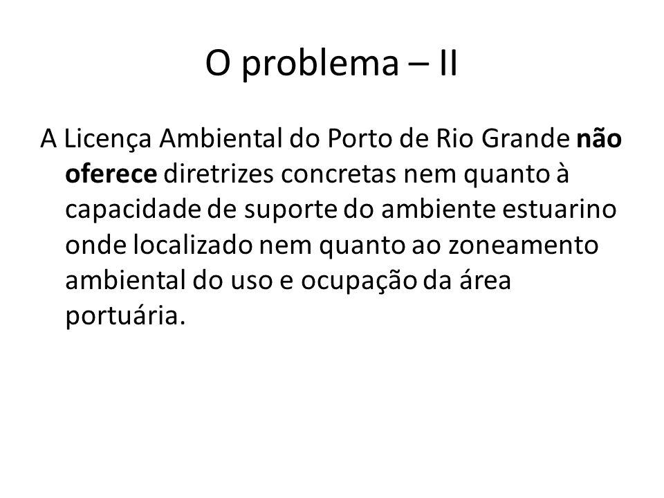 O problema – II A Licença Ambiental do Porto de Rio Grande não oferece diretrizes concretas nem quanto à capacidade de suporte do ambiente estuarino o