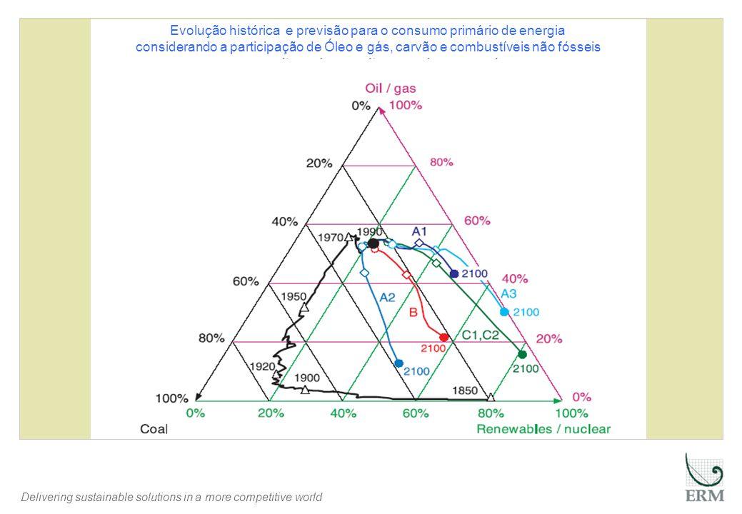 Delivering sustainable solutions in a more competitive world Evolução histórica e previsão para o consumo primário de energia considerando a participa