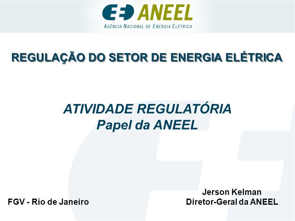 Falhas de Mercado Agências Reguladoras Surgiram nos EUA, no século XIX, na esteira de legislação anti-monopolista As agências brasileiras adotaram os mesmos princípios