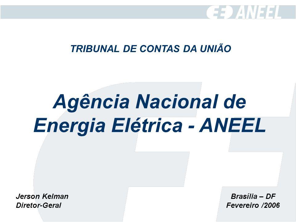 Brasília – DF Fevereiro /2006 TRIBUNAL DE CONTAS DA UNIÃO Agência Nacional de Energia Elétrica - ANEEL Jerson Kelman Diretor-Geral