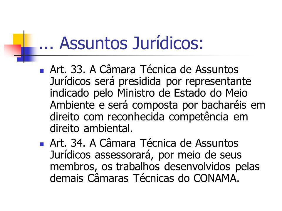 ... Assuntos Jurídicos: Art. 33.