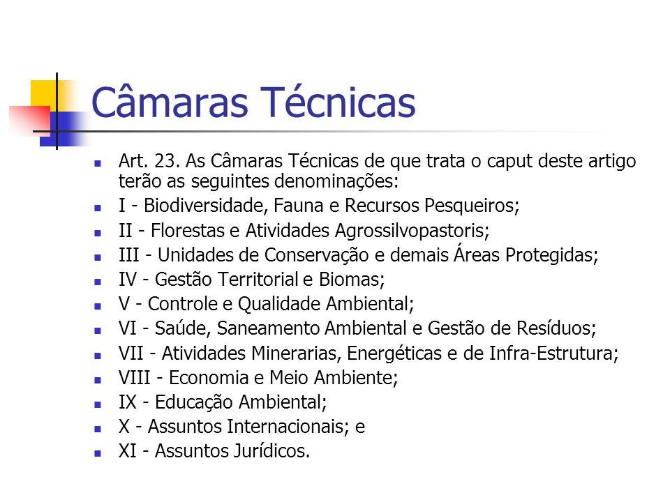 Câmaras Técnicas Art. 23.