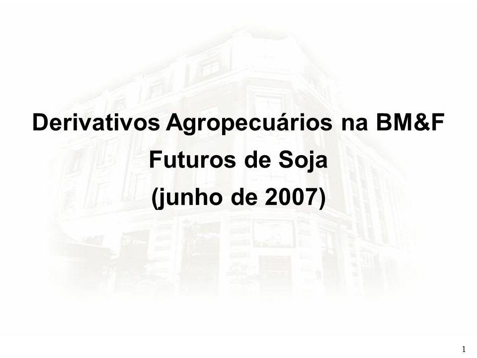 2 Venda Futura de Soja na BM&F – Identificação do Problema Em novembro um produtor de soja de Rio Verde, GO, espera colher 9.000 sacas em sua lavoura recém plantada.