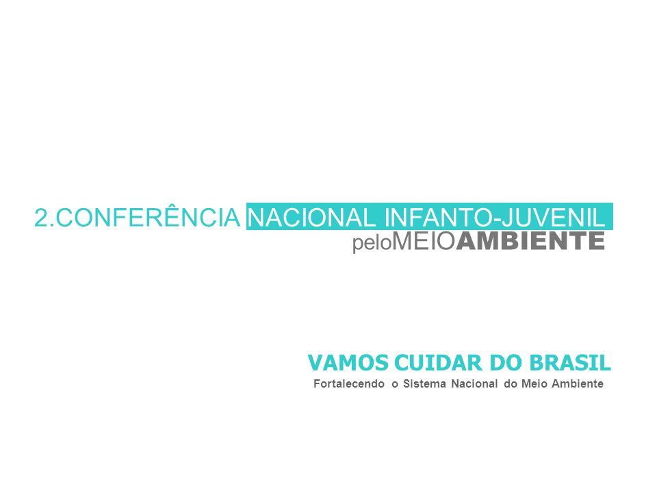 2.CONFERÊNCIA NACIONAL INFANTO-JUVENIL pelo MEIO AMBIENTE VAMOS CUIDAR DO BRASIL Fortalecendo o Sistema Nacional do Meio Ambiente