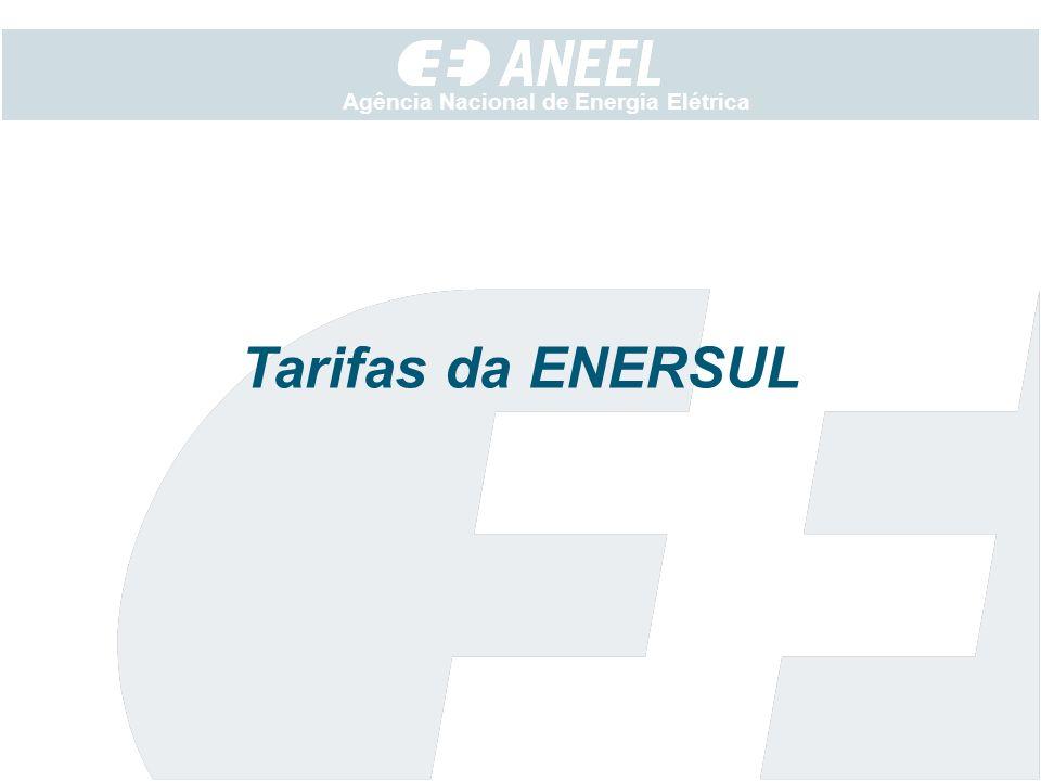 Agência Nacional de Energia Elétrica Tarifas da ENERSUL
