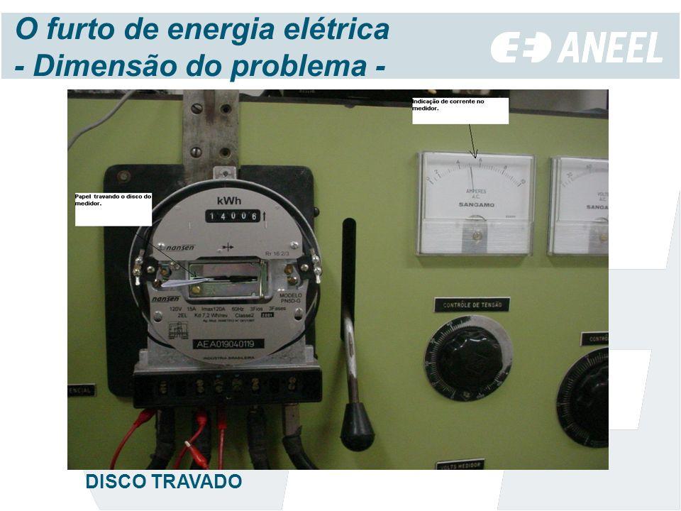 DISCO TRAVADO O furto de energia elétrica - Dimensão do problema -