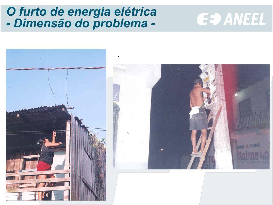 Exemplos de fraude no consumo de energia O furto de energia elétrica - Dimensão do problema -