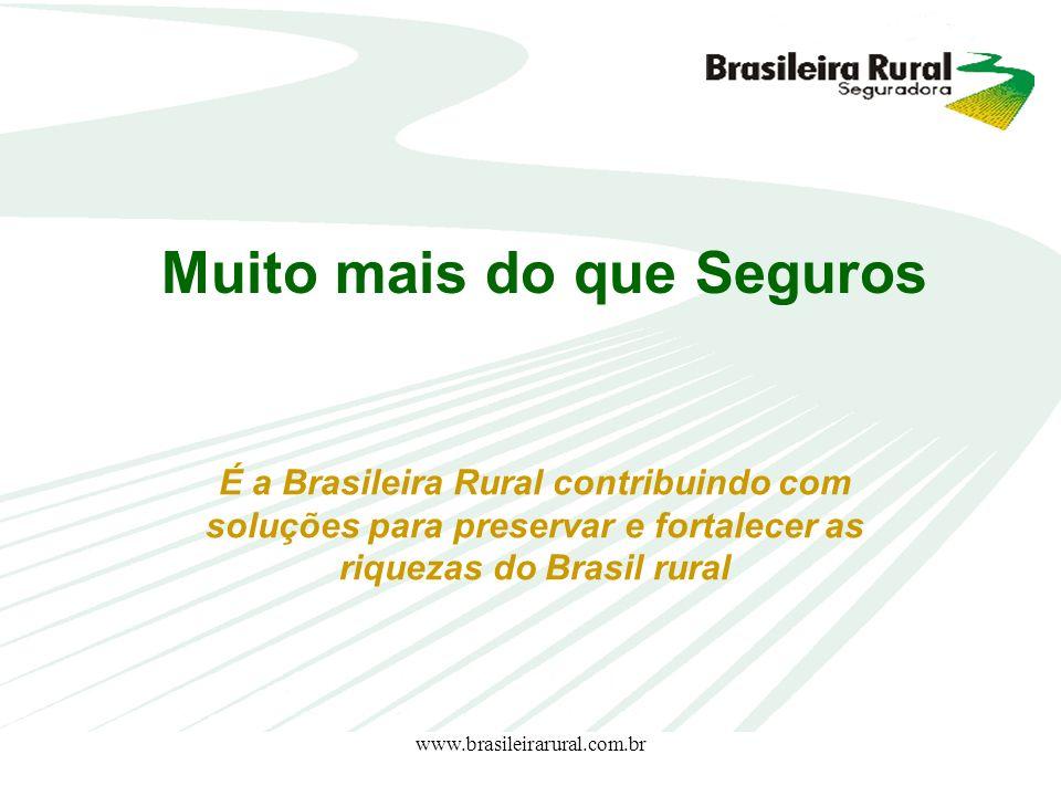 www.brasileirarural.com.br É a Brasileira Rural contribuindo com soluções para preservar e fortalecer as riquezas do Brasil rural Muito mais do que Se