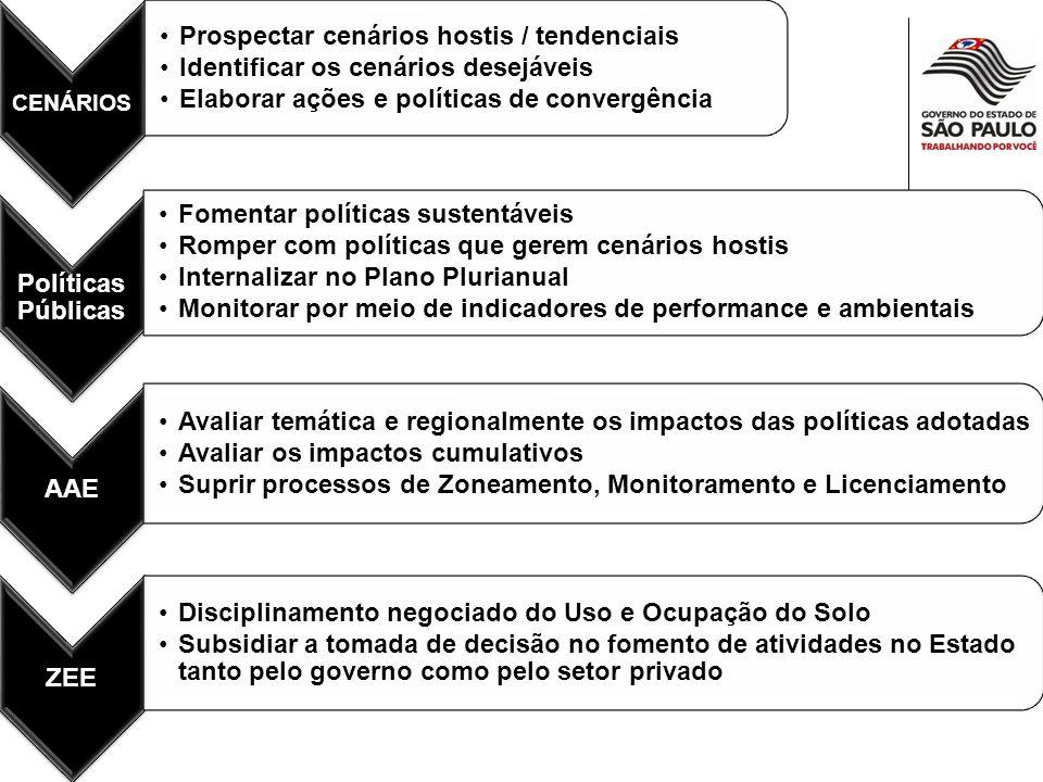Resultados esperados Fortalecimento das ferramentas de planejamento Potencializar as áreas fins do Sistema Ambiental Melhorar os Indicadores no médio prazo Cenários AAE ZEE Licenciamento Fiscalização Perfomance Ambientais