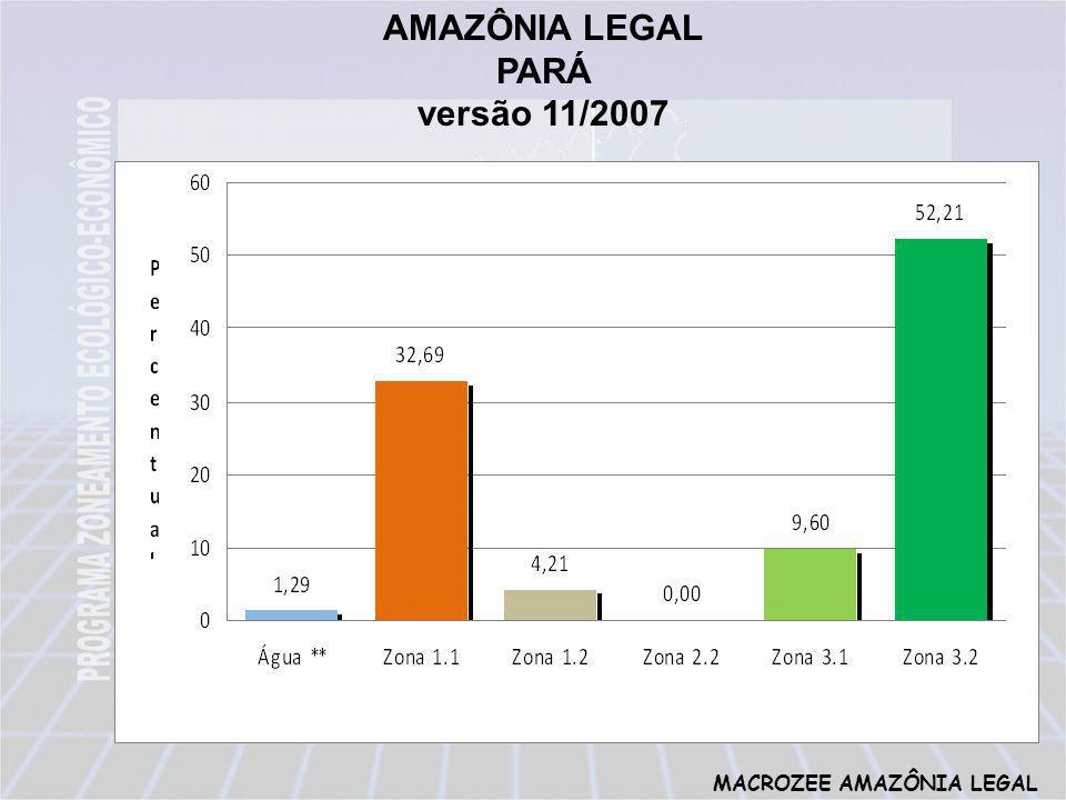 MACROZEE AMAZÔNIA LEGAL AMAZÔNIA LEGAL PARÁ versão 11/2007