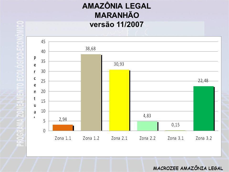 MACROZEE AMAZÔNIA LEGAL AMAZÔNIA LEGAL MARANHÃO versão 11/2007