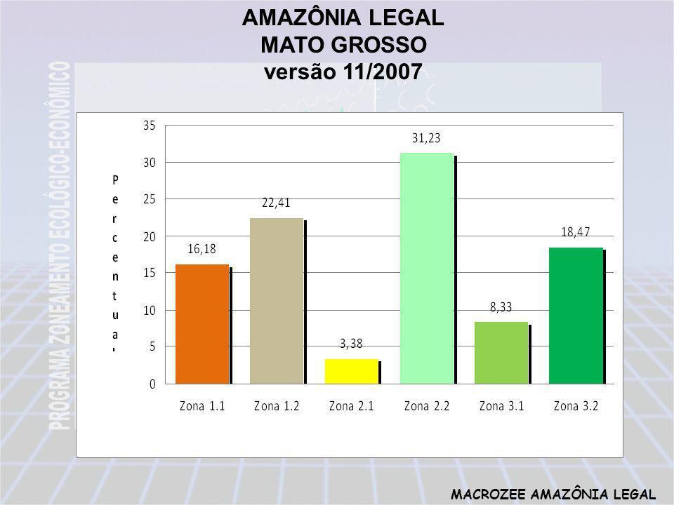 MACROZEE AMAZÔNIA LEGAL AMAZÔNIA LEGAL MATO GROSSO versão 11/2007