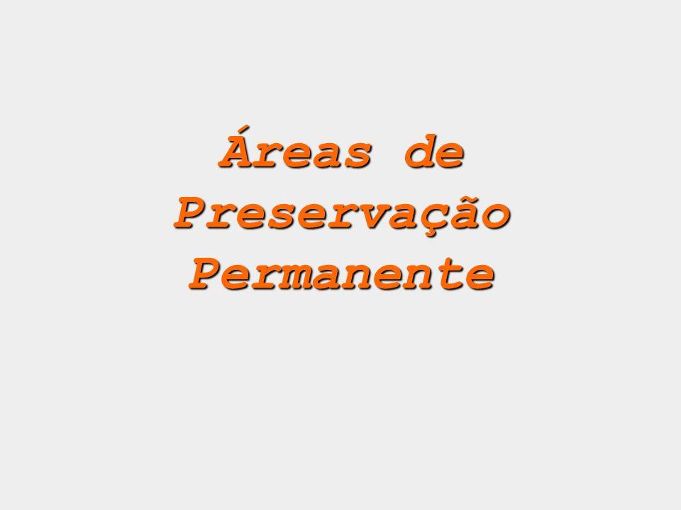 Áreas de Preservação Permanente