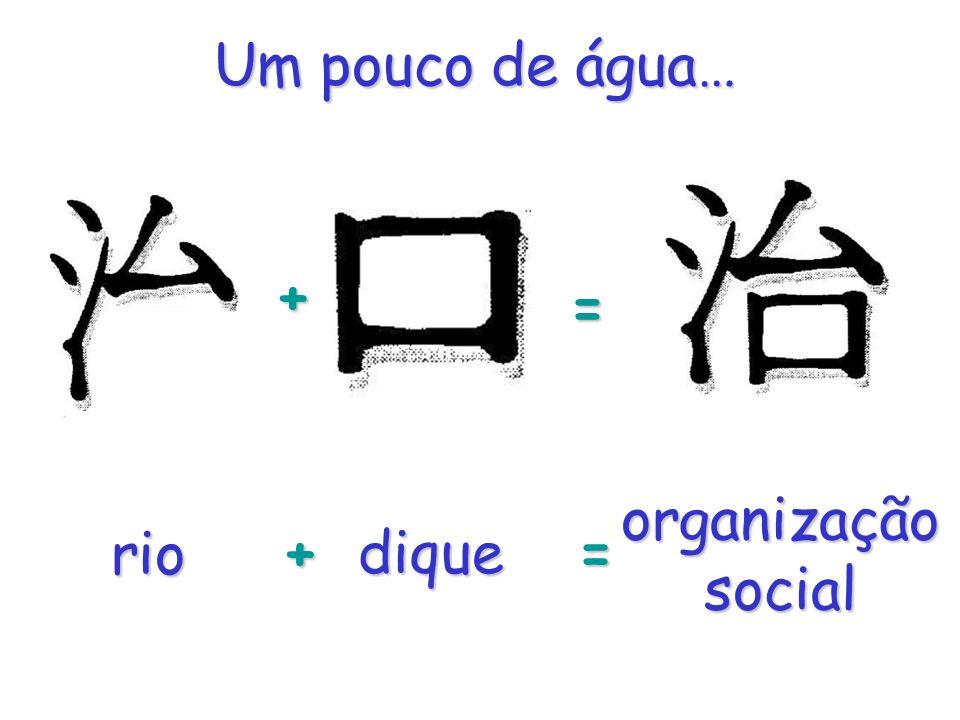 rio + +dique = = organização social Um pouco de água…