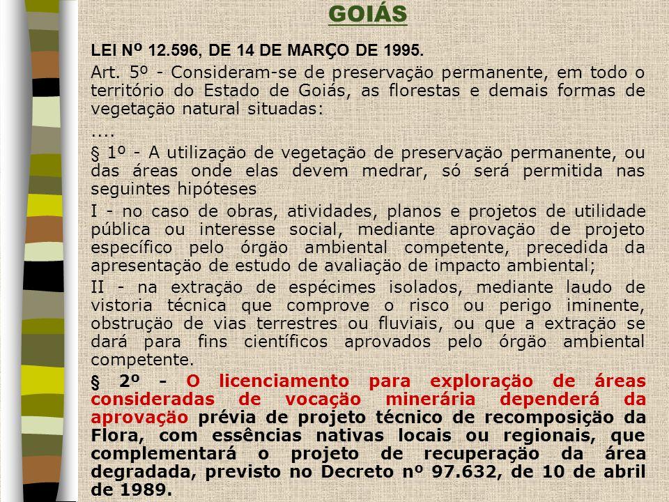 GOIÁS LEI N º 12.596, DE 14 DE MAR Ç O DE 1995.Art.